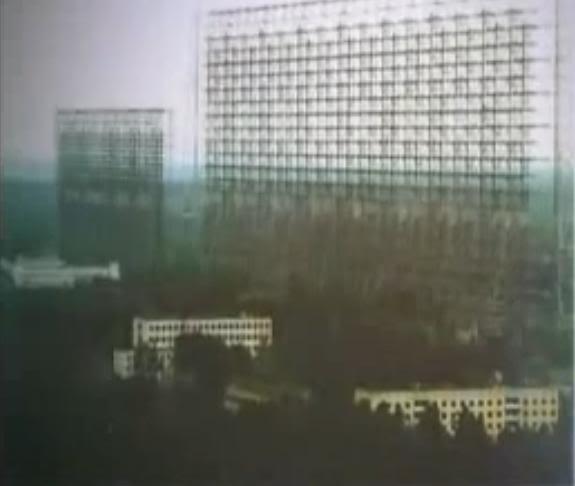 前蘇聯的超巨型天線,對外聲稱用於彈道導彈探測,但可用於天氣控制,包括降雨及颱風控制。實驗秘密進行超過二十年。