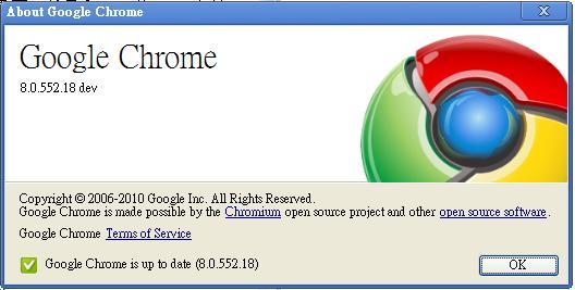 chrome 8.0.552.18