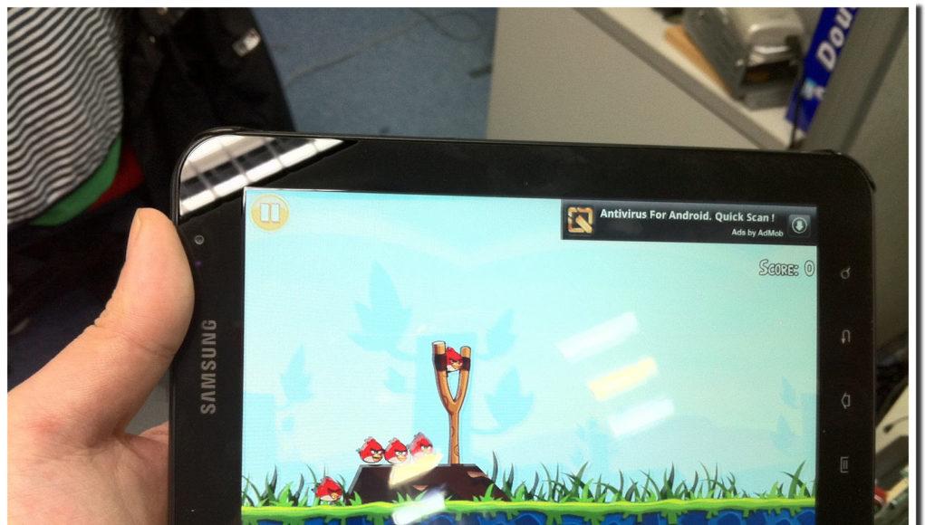 samsung galaxy tab 7 play angry bird