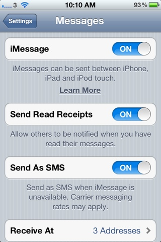 Send Read Receipts