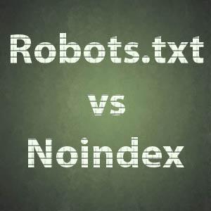 robots txt vs noindex