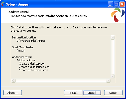 ampps setup