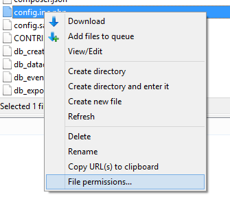 phpMyAdmin ftp File pemissions
