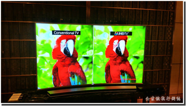 Samsung SUHD TV demo display