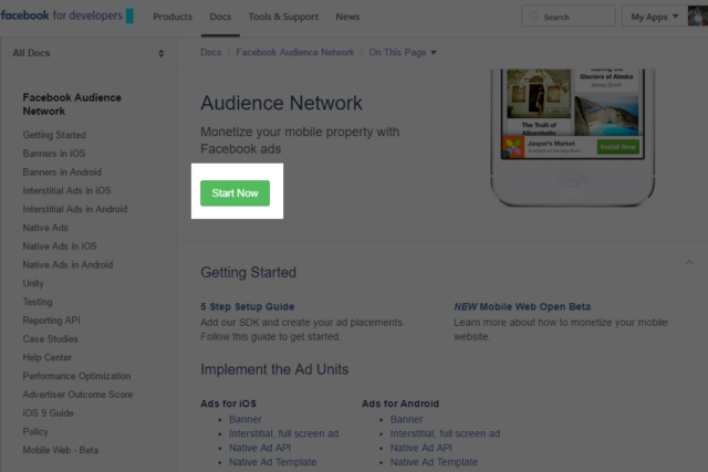 apply facebook audience network