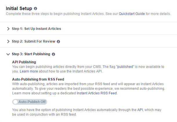 wordpress setup facebook instant article