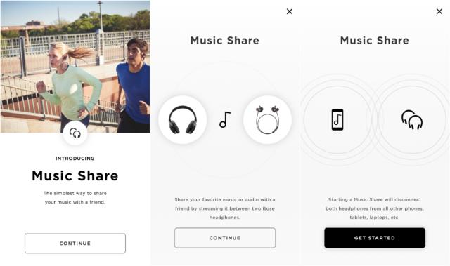 Bose Q35 app share music