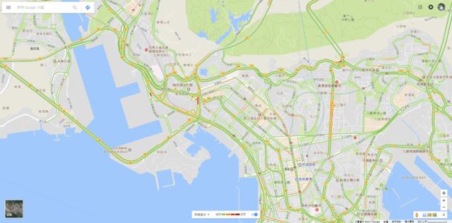 google map 香港單車節路況
