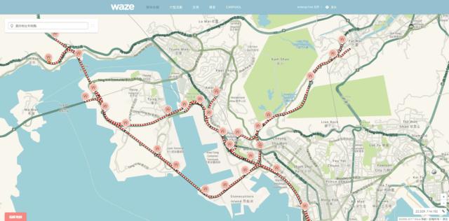 waze 香港單車節路況